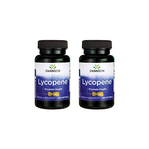 Swanson Lycopene 10 mg 120 Sgels 2 Pack