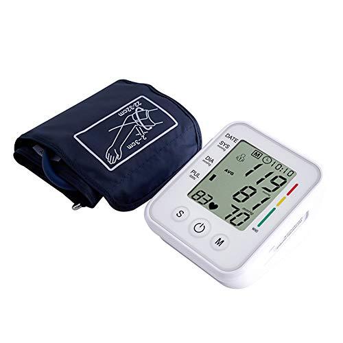 FJLOVE Portátil Tensiómetro de Brazo Eléctrico Digital Pantalla LED con Monitoreo de Arritmia y Monitor de presión Arterial 2 Memorias de Usuario 2 * 99 Ouoy