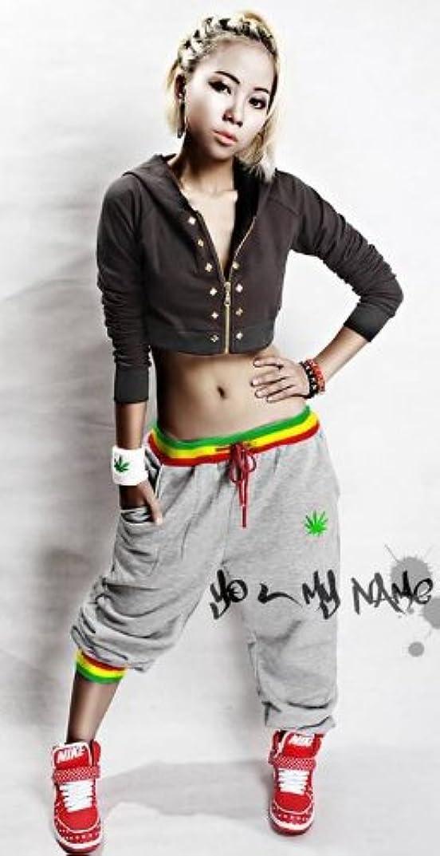 電報主権者幾分ジャマイカモデル メンズ レディース兼用 レギュラー ロング スウェット パンツ ダンス&フィットネス ルームウェア:4色 10サイズ【灰色:L】