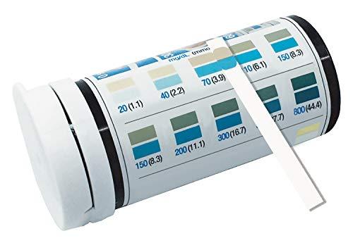 Blutzucker-Teststreifen, visuell lesbar mit Farbskala (20-800 mg/dL 1-44mmol/L), 50 Tests
