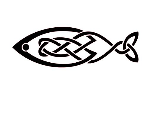 Celtic Fish Vinyl Decal, Celtic Wall Art, Celtic Knot Stickers, Celtic Knot Decals, Fish Decals, Fish Stickers