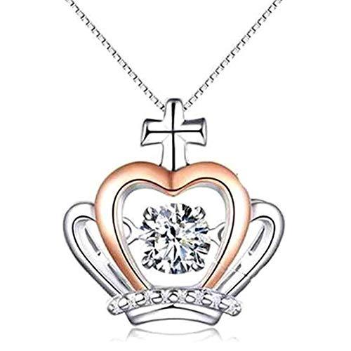 To My Badass Daughter - Juego de Regalo con Collar de Corona, joyería de Cadena de clavícula Corta chapada en Plata 925, el Elegante y Delicado Colgante de Corona Que Puede Brillar como una Reina A