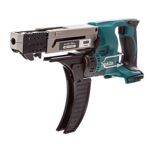 Makita DFR550Z Magazinschrauber 25-55mm 18 V (ohne Akku, ohne Ladegerät), 180 W, Blau, Silber