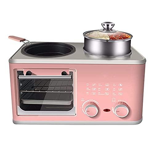 HYCy Máquina de Desayuno Multifuncional Cuatro en uno Puede freír bistec, Hornear Pasteles, Apto para Huevos al Vapor, Desayuno, té de la Tarde, reuniones Familiares, Cocina