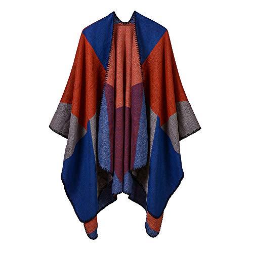 THTHT dames shawl mode sjaal verdikking kleuraanpassing grote vierkant jacquard warm en lange herfst en winter dual use classic oranje