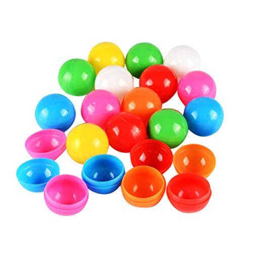 Amosfun 100 Stück Bälle Bunte offene Ping-Pong-Bälle Lotterie-Bälle Tischtennisbälle für Party Kinder