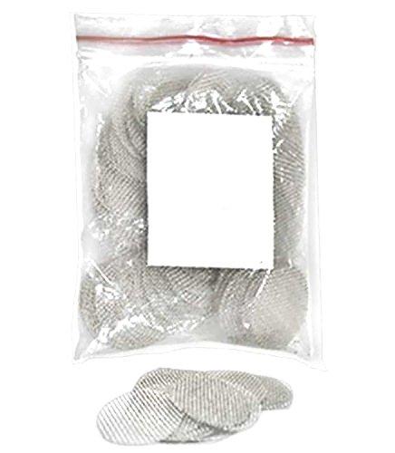 budawi® - Einlege-Siebe für Holz & Specksteinpfeifen 15-20 mm, Rostfreie steel Screen