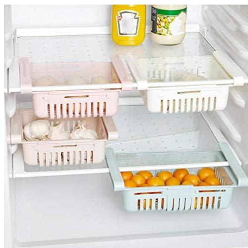 Frigorifero Fridge Rack di Stoccaggio Congelatore Mensola della Cucina del Risparmiatore dello Spazio Cassetto 'organizzatore Pratica Frigo Magazzinaggio Tool Box Colore Casuale