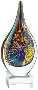 Badash - Cristal de cristal estilo murano, 28 cm con forma de lágrima sobre base de cristal