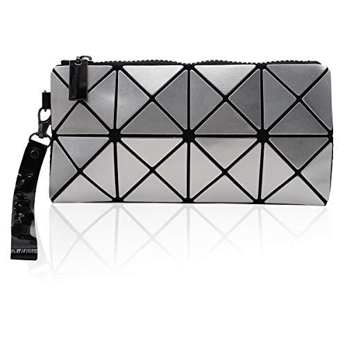 whatUneed Neue Mode Kosmetiktasche, geometrische Muster Make-up Tasche Handtasche Handytasche