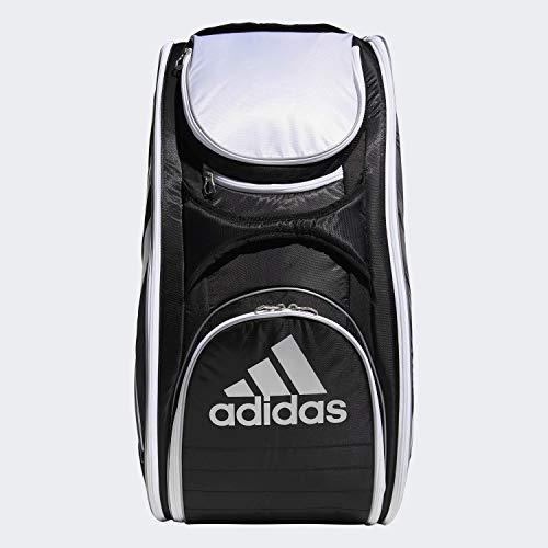 adidas Bolsa para raqueta de tenis Tour 12 unisex, color negro/blanco/plata, talla...