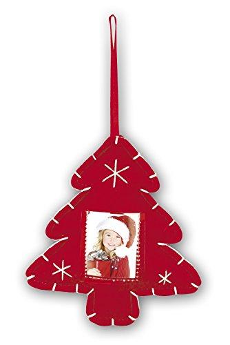 Zep Christmas Tree Adorno con Foto para Árbol de Navidad, Algodón, Rojo, 16x21x2 cm