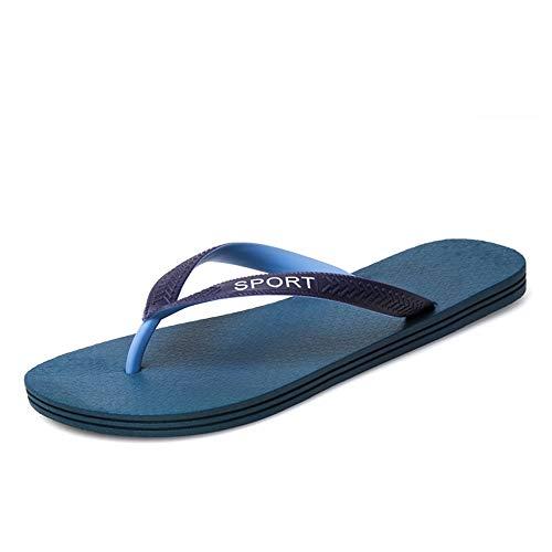 SUSHANCANGLONG Sandalias deportivas Flip-Flop para hombre, cómodas, casuales, de piel sintética para exteriores, azul, 100