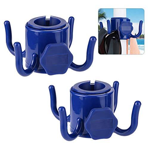 Peahop Gancho para sombrilla de Playa, 2 Piezas Gancho para Colgar sombrilla de Playa Gancho para Colgar sombrilla de plástico para Toallas Sombreros Ropa Bolsas