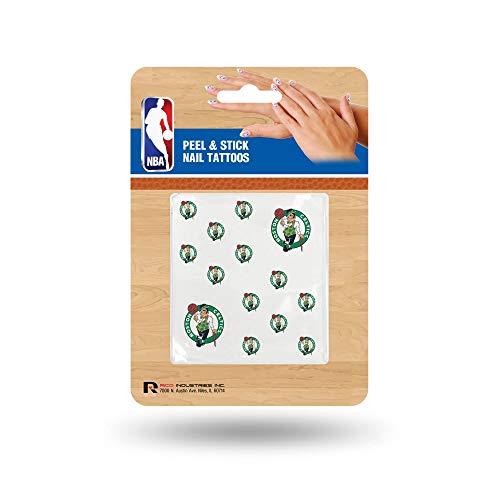 Rico Industries NBA Boston Celtics Nail Tattoos, Set of 12 Plus 2 Face Tattoos