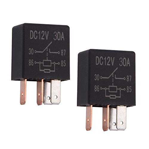 Ehdis 4 Pin 12VDC 30A SPST Multi-Purpose Relay Heavy Duty Standard-Relay-Set, Inhalt: 2 Stück