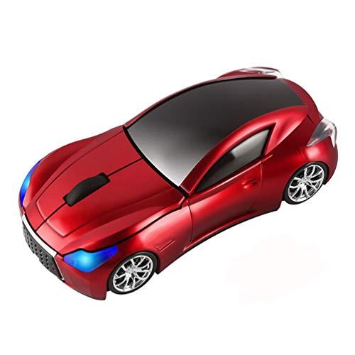 Kabellose Maus in Auto-Form, 1600 DPI, 3 Tasten, optische Maus mit USB-Empfänger, für PC/Computer / Laptop Geschenk