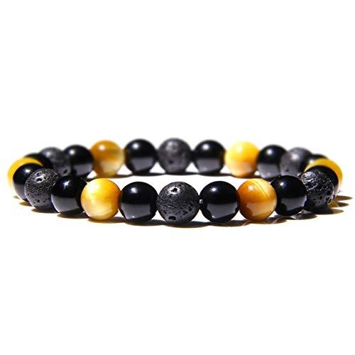 DASHUAIGE Armband Natürlicher Schwarzer Obsidian Hämatit Tigerauge Perlen Armbänder Männer Für Magnetische Frauen Schmuck Pulsera
