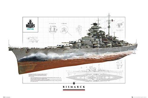 GB eye Ltd World of Kriegsschiffe, Bismarck, Maxi Poster, 61x 91,5cm, verschiedene
