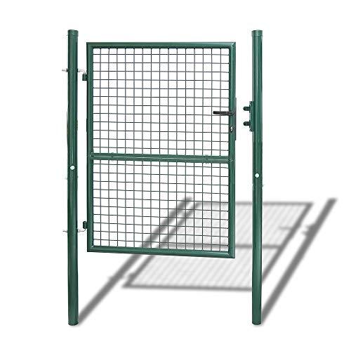 Gartentor aus verzinktem Stahl robust und langlebig mit Schloss und Schlüssel Tormaße: 125 x 100 cm Grün
