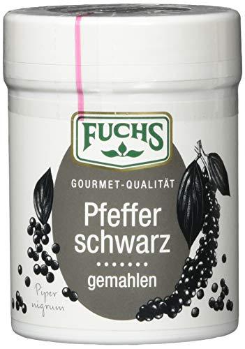 FUCHS Pfeffer schwarz gemahlen, für gut zu dosierende Schärfe (scharfes Gewürz in Dose), 3er Pack (3 x 60 g)