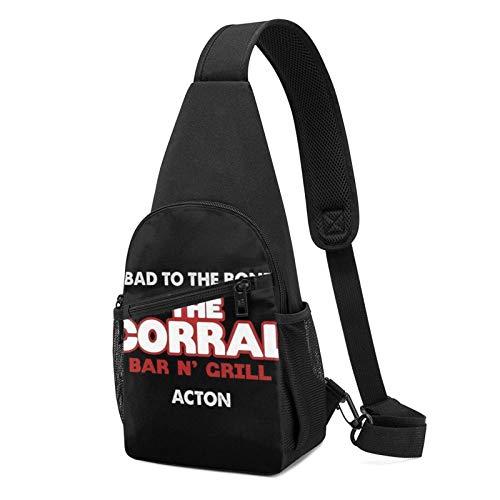 The Corral Bar N Grill Terminator 2 Sling Zaino Sling Bag Nero Crossbody Daypack Casual Zaino Zaino Busto Zaino per Viaggi, Escursionismo, Ciclismo, Campeggio per donne e uomini