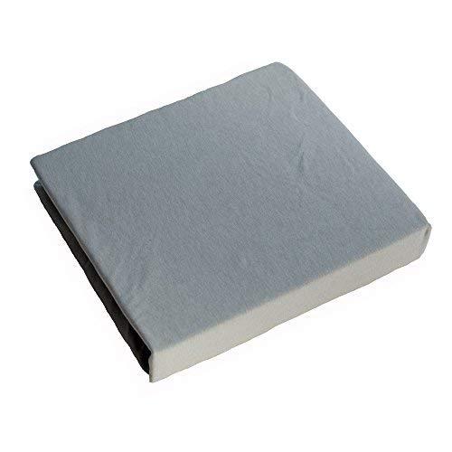Jersey 100% Baumwolle Spannbetttüch, Passend für 160 x 70 Juniorbett Matratze (Grau)