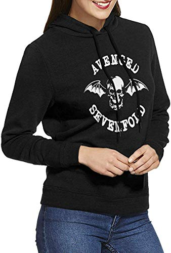 Avenged Sevenfold Womens Long-Sleeve Lightweight Hoodie Shirt Sweatshirt Rundhalsausschnitt