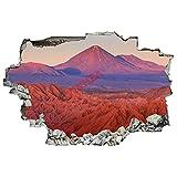 Pegatinas de pared en 3D, San Pedro De Atacama, Chile adhesivos murales para pared, decoración artística para sala de estar, hogar, dormitorio de niños, guardería (17 pulgadas de ancho x 60 cm)