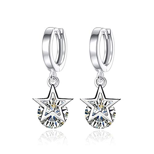 Zircon natural Pendiente de cristal grande Sterling Siling Silver Soop Closp Drop Pendientes de mujer (Gem Color : Style 3)