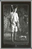 ポスター ステューシー ステューシー20th Anniversary プリント05 額装品 アルミ製ハイグレードフレーム(シルバー)