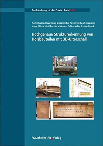 Hochgenaue Strukturerkennung von Holzbauteilen mit 3D-Ultraschall.
