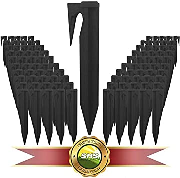 RASENFREUND 100 St/ück Haken Befestigung f/ür M/ähroboter Erdanker Kabelhalter F/ührung Zubeh/ör SET Befestigung f/ür Begrenzungskabel Kompatibel mit GARDENA//BOSCH//HUSQVARNA//WORX//HONDA//ROBOMOW//iMow