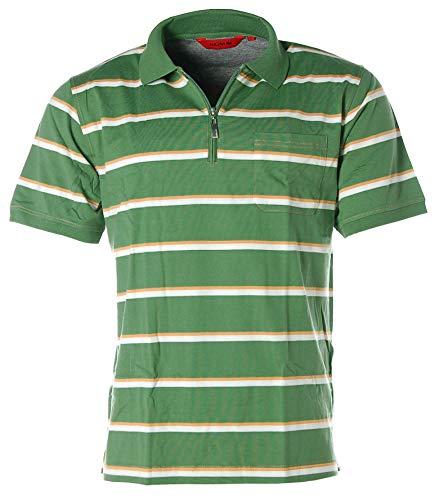 Signum Herren Poloshirt Polo T-Shirt Streifen Grün L
