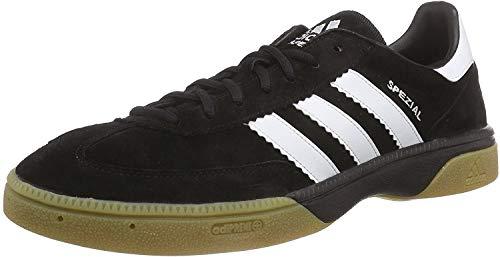 adidas HB Spezial Herren Handballschuhe, Schwarz (Black 1/Running White/Black 1), 45 1/3 EU