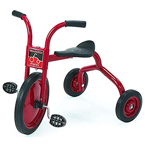 """Angeles ClassicRider Toddler 14"""" Tricycles, 2 Pack, Kids Big 3 Wheel Trikes, Girls/Boys Outdoor Play Equipment, Homeschool/Daycare/Preschool, Blk/Red, Black/Gold/Red, AFB0300PR2"""