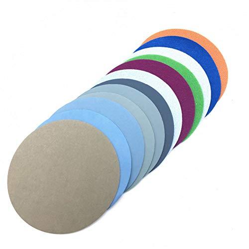 FWZJSD Schleifpapier 30ps125mm Wasserschleifpapier 5 zoll Körnung 1500-10000 Schleifscheiben Klettschleifpapier Rundes Schleifpapier Scheibe Sandblatt