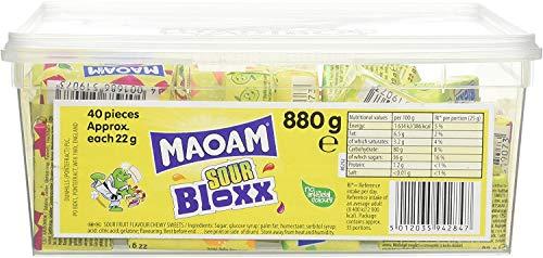 Maoam Minis Sours Fruit Chews 60 Pieces Per Tub