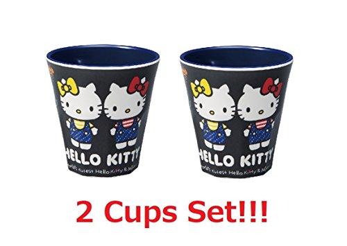 Skater Tasse en Plastique 200ml pour Enfants Made in Japan (Hello Kitty Denim 270ml x2)