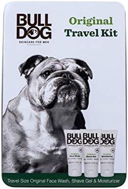 Bulldog Mens Skincare Grooming Original Mini Travel Tin Set Including 1 Oz Facial Moisturizer product image