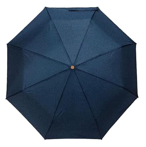 Thomas Calvi Paraguas manual pequeño con estuche, diseño compacto y portátil ligero, perfecto para sombrilla al aire libre, sol, lluvia, viajes y picnic (Armada Azul)