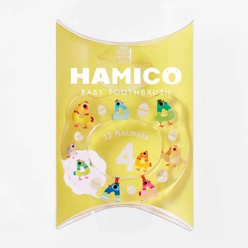 HAMICO(ハミコ)ベビー歯ブラシ「12Animals(12アニマルズ)」シリーズニワトリ(04)