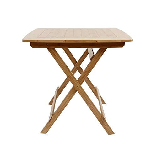 GXCIHGIUHUI GXC opvouwbare tafel, multifunctioneel, vierkant, van bamboe, multifunctioneel, geen noodzaak om slaapkamer, balkon, slaapzaal, tafel, kruk, inklapbaar in twee delen 70cm Een