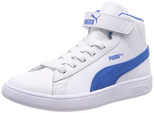 Puma Unisex-Kinder Smash v2 Mid L V PS Hohe Sneaker, Weiß (Puma White-indigo Bunting), 33 EU