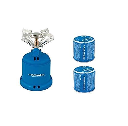 ALTIGASI Campingaz Réchaud à gaz de camping Stove S de marque Campingaz + 2 cartouches C206 GLS – Produit idéal pour le camping