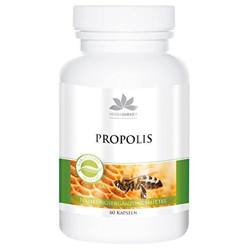 Bijen propolis capsules - 500 mg propolis per capsule - hoge dosis - 60 capsules