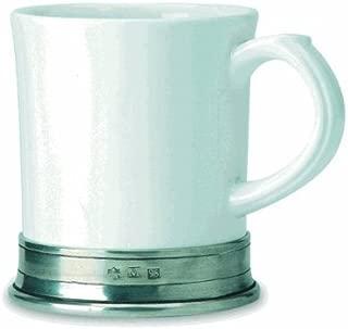 Match Italian Pewter Convivio Mug, White