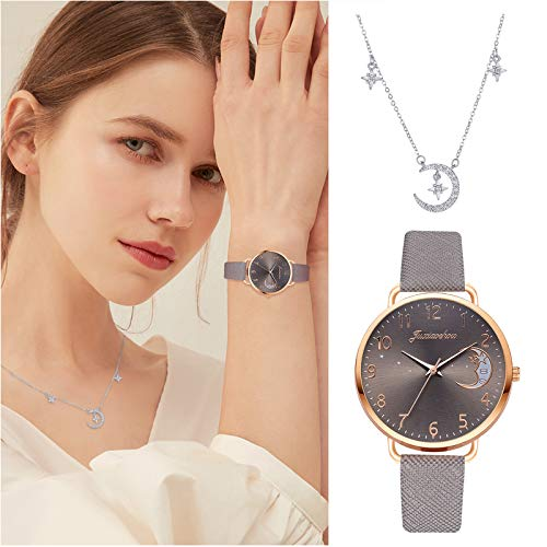 Quartz Wrist Watches Jewelry Set, Business Casual Quartz Watch and Necklace Combination, Gift for Girls Mother Women Business Casual Quartz Watch With Necklace Ladies Jewelry Gift Combination