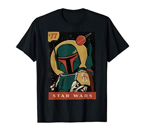 Star Wars Boba Fett Vintage Trading Card '77 Graphic T-Shirt T-Shirt