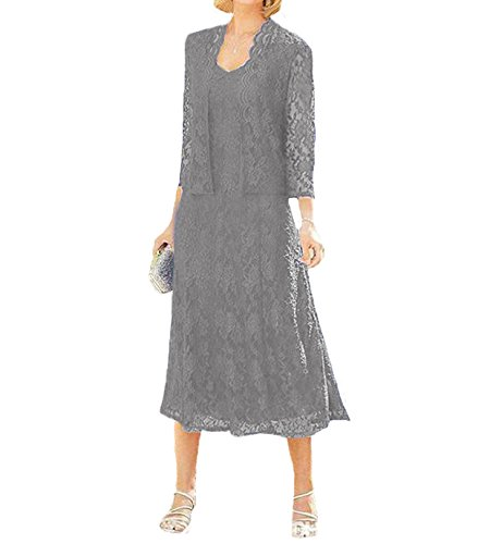 O.D.W - Vestido - Sin mangas - para mujer Plateado plata 48